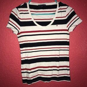 Tommy Hilfiger v-neck stripe shirt